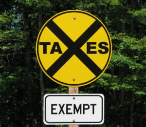 churches exempt from many taxes