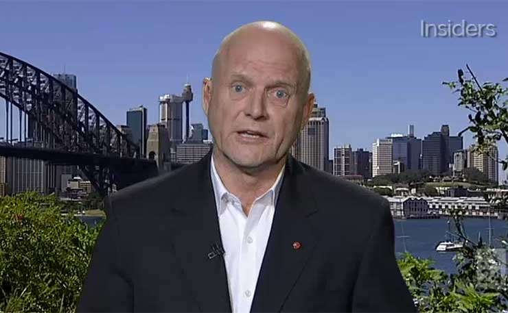 Liberal Democrats Senator David Leyonhjelm, during an August 2016 appearance on ABC's Insider's program.